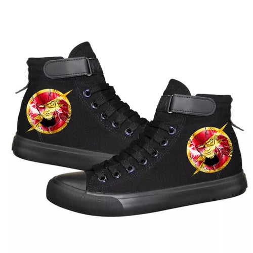 The Flash Barry Allen Superhero #1 High Tops Casual Canvas Shoes Unisex Sneakers