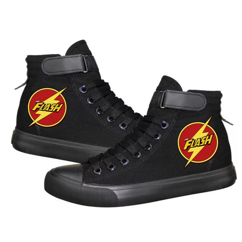 The Flash Barry Allen Superhero #2 High Tops Casual Canvas Shoes Unisex Sneakers