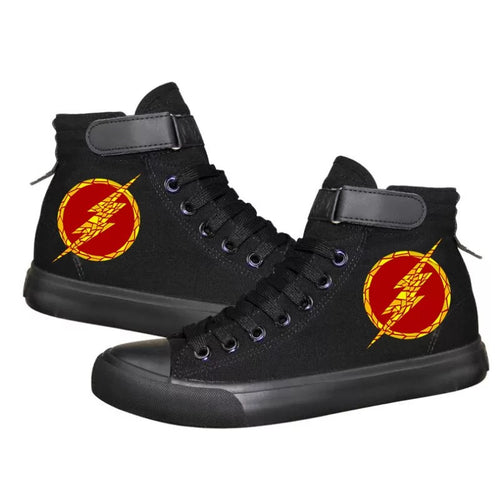 The Flash Barry Allen Superhero #3 High Tops Casual Canvas Shoes Unisex Sneakers