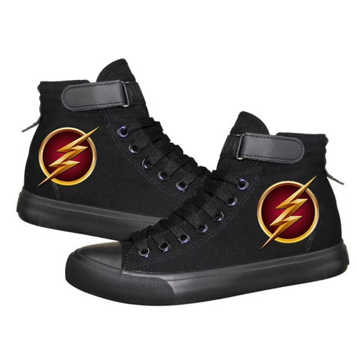 The Flash Barry Allen Superhero #4 High Tops Casual Canvas Shoes Unisex Sneakers