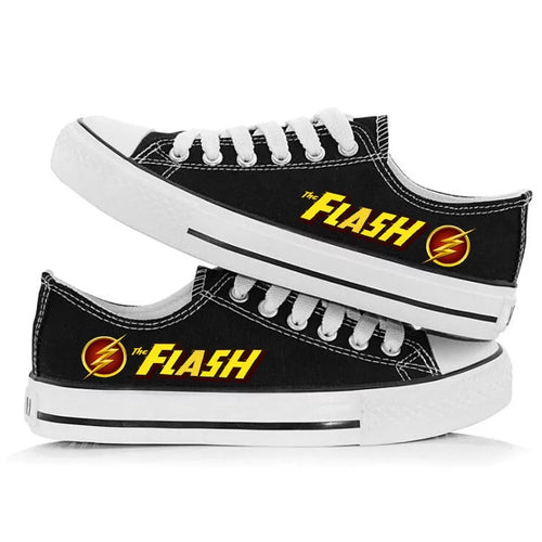 The Flash Barry Allen #1 Casual Canvas Shoes Unisex Sneakers For Kids Adults