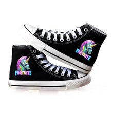 Load image into Gallery viewer, Game Fortnite Unicorn High Top Canvas Sneakers Cosplay Shoes For Kids