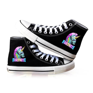 Game Fortnite Unicorn High Top Canvas Sneakers Cosplay Shoes For Kids