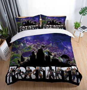 Fortnite Bedding Set Duvet Cover Set Bedroom Set Bedlinen 3D Printing Bag Game Skin Xbox