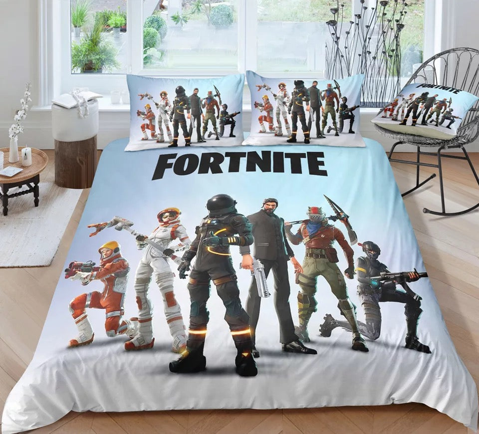Fortnite Bedding Set Duvet Cover Set Bedroom Set Bedlinen 3D Printing Game Skin