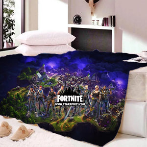 Game Fortnite Sherpa Fleece Bedding Blanket Game Skin Xbox