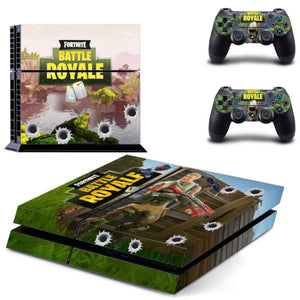 Fortnite Battle Royale Skin For PS4 Playstation4 Console +2Pcs Controller Protective
