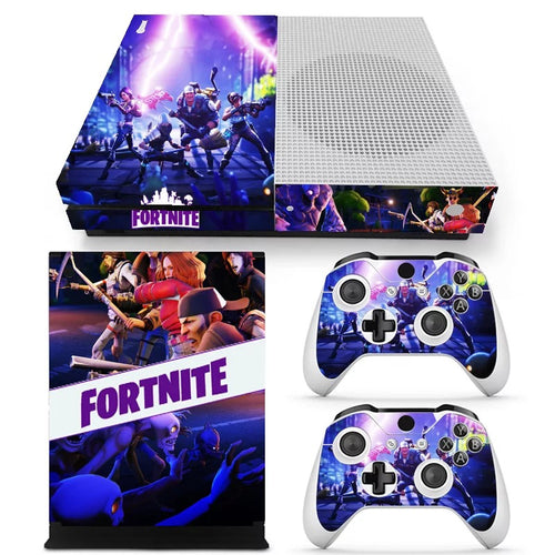 Fortnite Battle Royale Skin For XBOX ONE Slim  Console +2Pcs Controller Protective