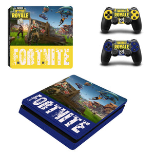 Game Fortnite Skin For PS4 Slim Console +2Pcs Controller Protective