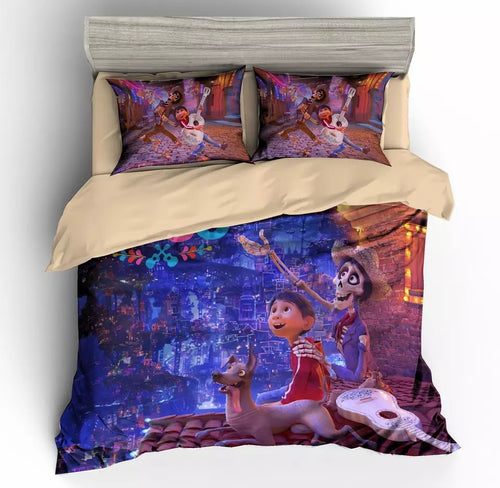 Cartoon Movie Coco Duvet Cover Bedding Set For Kids