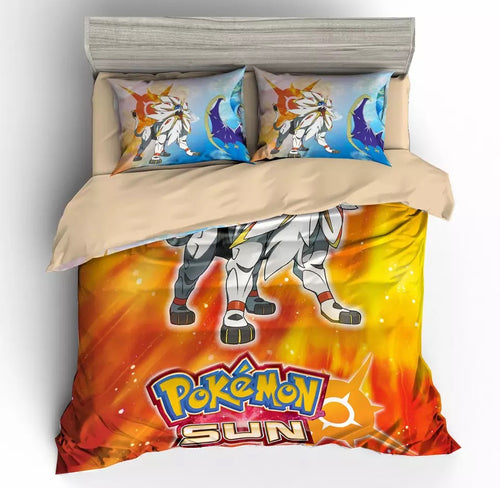 Game Pokemon Sun And Moon Bedding Set Duvet Cover For Kids