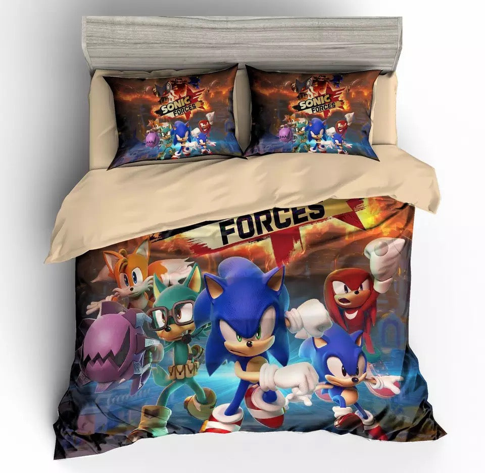 Game Sonic Forces Bedding Set Duvet Cover For Kids