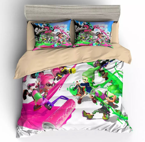 Game Splatoon Bedding Set Duvet Cover For Kids