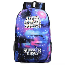 Load image into Gallery viewer, Stranger Things Alphabet Cosplay Backpack School Bag Water Proof