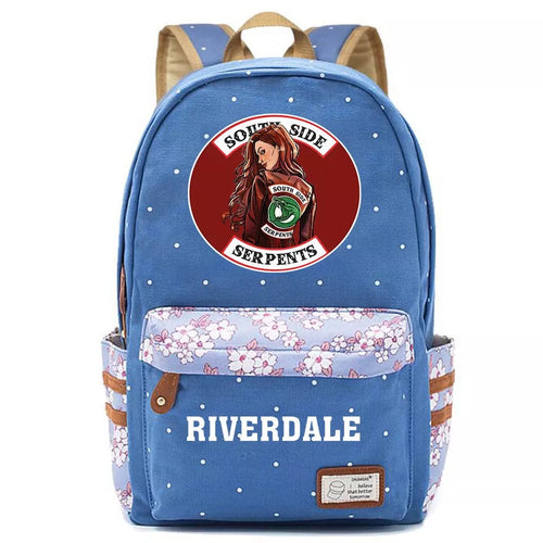 Riverdale South Side Serpents Canvas Travel Backpack School Bag