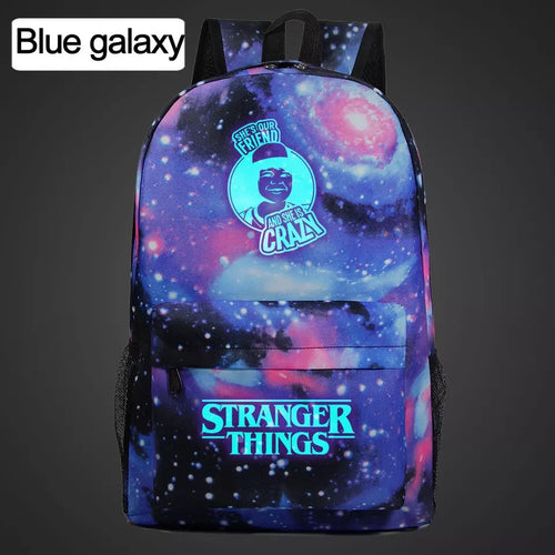 Stranger Things Friends Don't Lie Lumious Backpack School Book Bag Water Proof