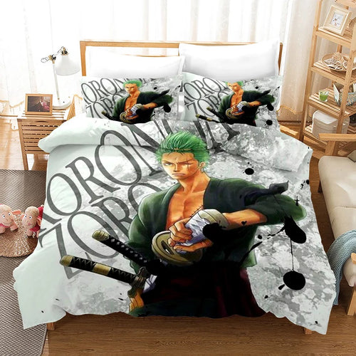 One Piece Monkey D. Luffy #14 Bedding Set Duvet Cover Pillowcase Bedroom Set Bed Linen