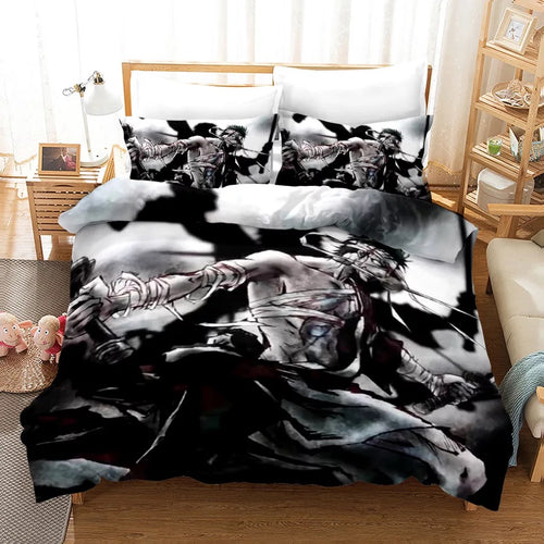 One Piece Monkey D. Luffy #15 Bedding Set Duvet Cover Pillowcase Bedroom Set Bed Linen