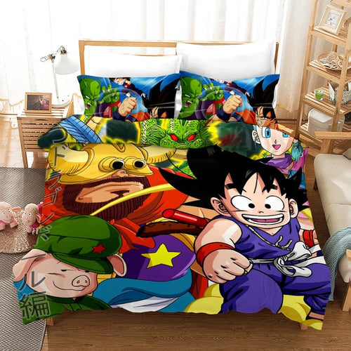 Dragon Ball Goku #17 Bedding Set Duvet Cover Pillowcase Bedroom Set Bed Linen