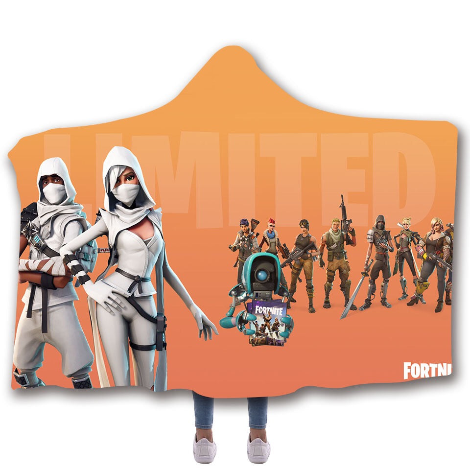 Game Fortnite Battle Royale Tshirt Hoodie Hooded Blanket Game Skin