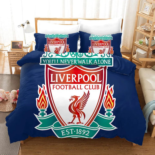 Liverpool Football Club You'll Never Walk Alone #2 Bedding Set Duvet Cover Pillowcase Bedroom Set Bed Linen