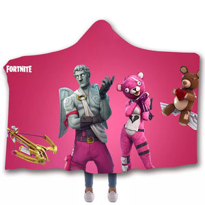 Game Fortnite Battle Royale Tshirt  Hoodie Hooded Blanket Game Skin Xbox