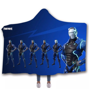 Game Fortnite  T-Shirt  Hoodie Hooded Comfort Blanket Game Skin Xbox