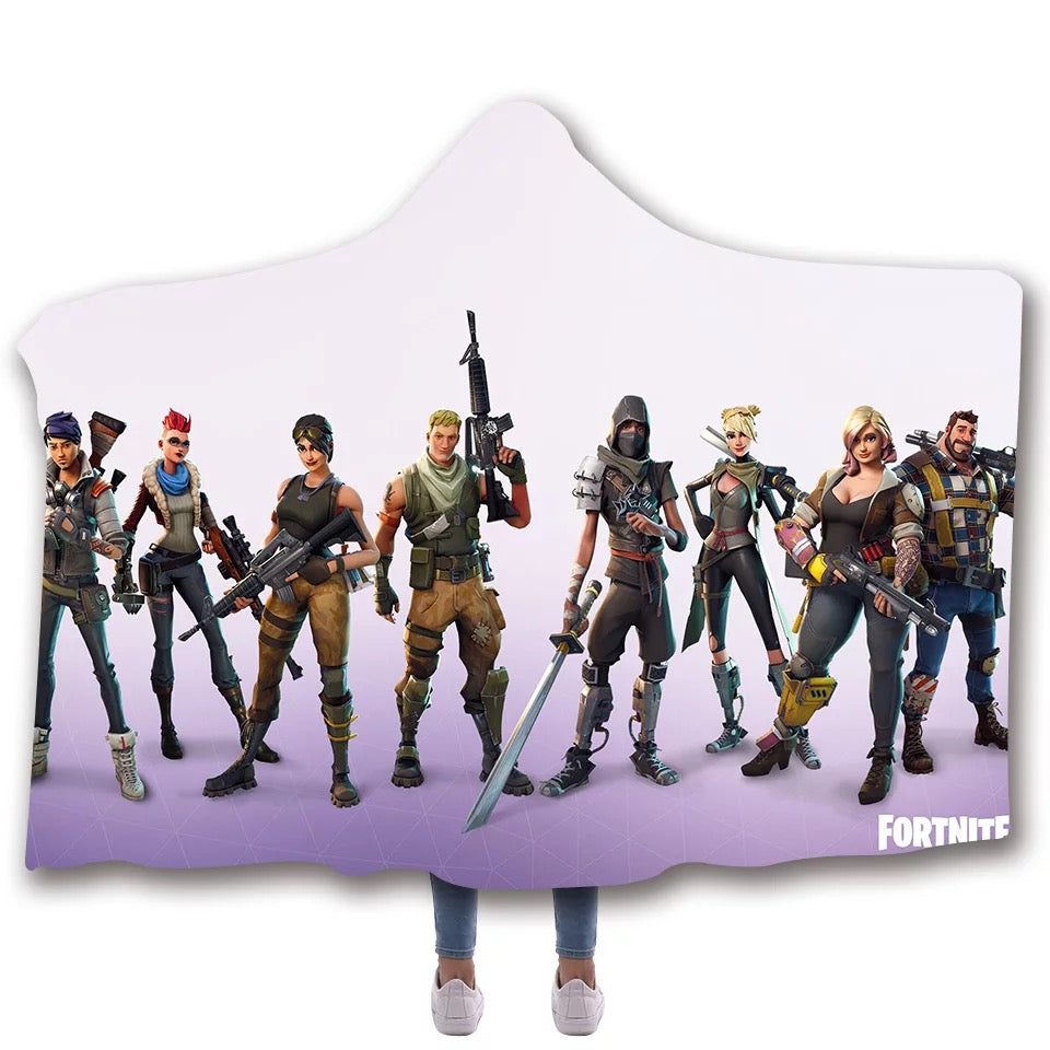 Fortnite  T-shirt  Hoodie Comfort Hooded Sherpa Blanket Game Skin Xbox