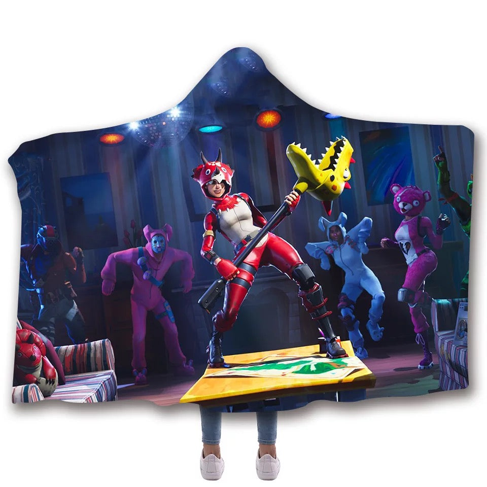 Fortnite Tricera Ops T-shirt  Hoodie Comfort Hooded Sherpa Blanket Game Skin Xbox