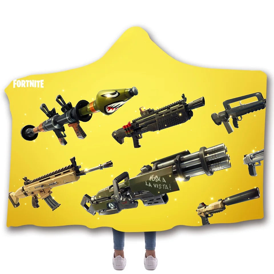 Game Fortnite T-shirt  Hoodie Comfort Hooded Sherpa Blanket Game Skin Xbox