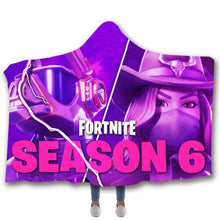 Load image into Gallery viewer, Game Fortnite Season 6 T-shirt  Hoodie Comfort Hooded Sherpa Blanket Game Skin Xbox