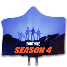 Load image into Gallery viewer, Game Fortnite Season 4 T-shirt  Hoodie Comfort Hooded Sherpa Blanket Game Skin Xbox