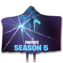 Load image into Gallery viewer, Game Fortnite Season 5 T-shirt  Hoodie Comfort Hooded Sherpa Blanket Game Skin Xbox