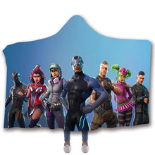 Load image into Gallery viewer, Game Fortnite T-shirt  Hoodie Comfort Hooded Sherpa Blanket Game Skin Xbox