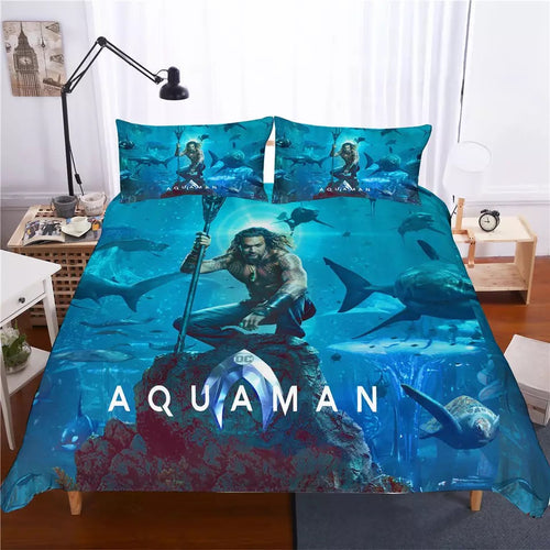 Aquaman Arthur Curry #1 Bedding Set Duvet Cover Set  Pillow Cover Bedroom Set Bed Linen
