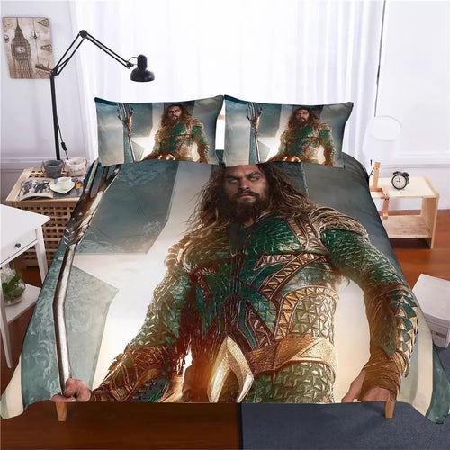 Aquaman Arthur Curry #2 Bedding Set Duvet Cover Set  Pillow Cover Bedroom Set Bed Linen