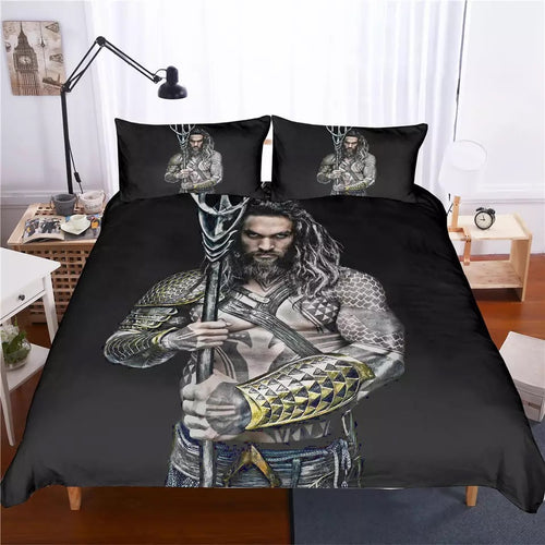 Aquaman Arthur Curry #3 Bedding Set Duvet Cover Set  Pillow Cover Bedroom Set Bed Linen
