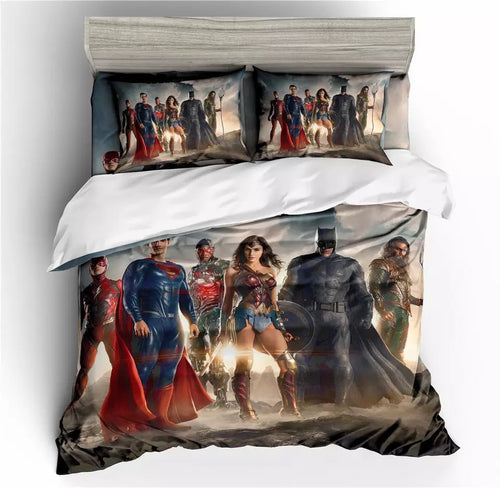 Justice League Aquaman #4 Bedding Set Duvet Cover Set  Pillow Cover Bedroom Set Bed Linen