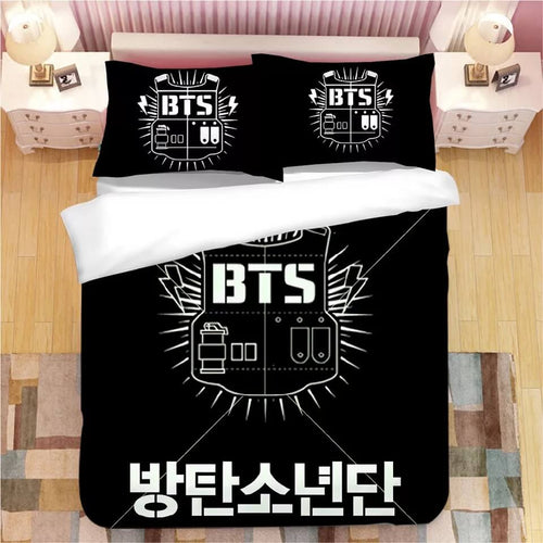 Kpop BTS #5 Bedding Set Duvet Cover Pillowcase Bedroom Set Bed Linen