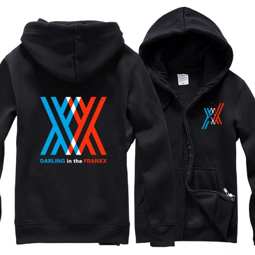 DARLING in the FRANXX Cosplay Hoodie Zipper Sweatshirt