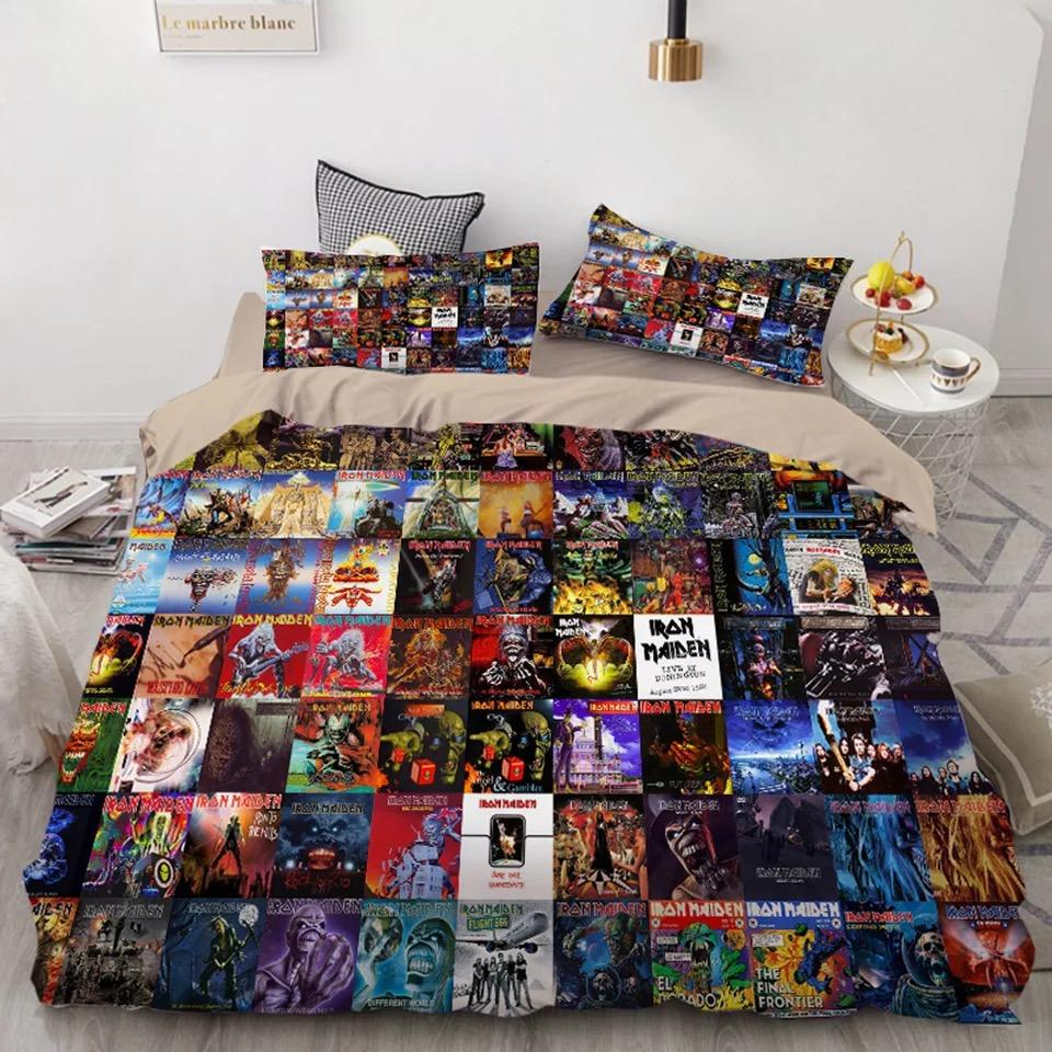 Iron Maiden Eddie #10 Duvet Cover Quilt Cover Pillowcase Bedding Set Bed Linen Home Decor
