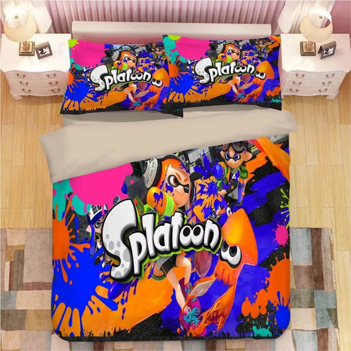 Game Splatoon #2 Bedding Set Duvet Cover Set  Pillow Cover Bedroom Set Bed Linen