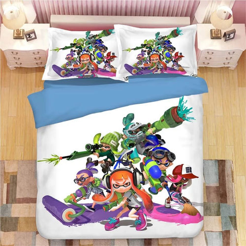 Game Splatoon #6 Bedding Set Duvet Cover Set  Pillow Cover Bedroom Set Bed Linen