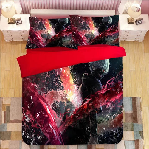 Anime Tokyo Ghoul Kaneki Ken #1 Bedding Set Duvet Cover Set  Pillow Cover Bedroom Set Bed Linen