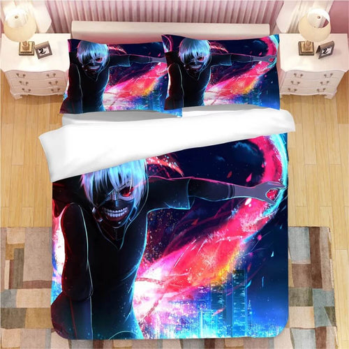 Anime Tokyo Ghoul Kaneki Ken #5 Bedding Set Duvet Cover Set  Pillow Cover Bedroom Set Bed Linen