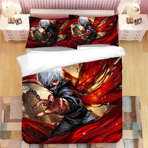 Anime Tokyo Ghoul Kaneki Ken #6 Bedding Set Duvet Cover Set  Pillow Cover Bedroom Set Bed Linen