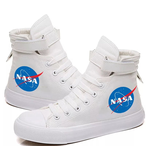 NASA Spae Canvas Shoes High Top Unisex Sneakers