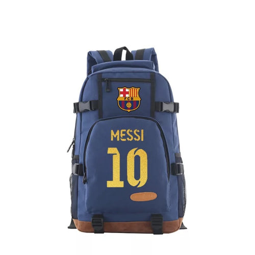 Barcelona Football Lionel Messi School Bookbag Travel Backpack Bags