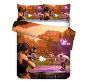 Game Fortnite Bedding Set Duvet Cover Set Bedroom Set Bedlinen 3D Bag Game Skin Xbox