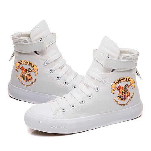 Harry Potter Hogwarts Cosplay Shoes High Top Canvas Sneakers